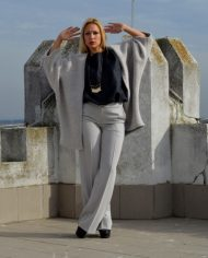 Hajdučica Clothing – Online Store – Metropolis Sivi Vuneni Kardigan