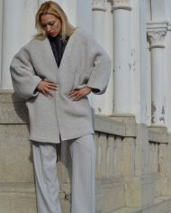 Hajdučica Clothing – Online Store-Metropolis Sivi Vuneni Kardigan