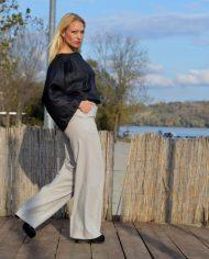 Hajdučica Clothing – Online Store – Pulp Fiction Sive Pantalone