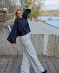 Hajdučica Clothing – Online Store-Pulp Fiction Sive Pantalone