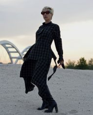 gorgeous women dress, asymmetrical dress, industrial dress, cotton dress, handmade dress, artistic, British
