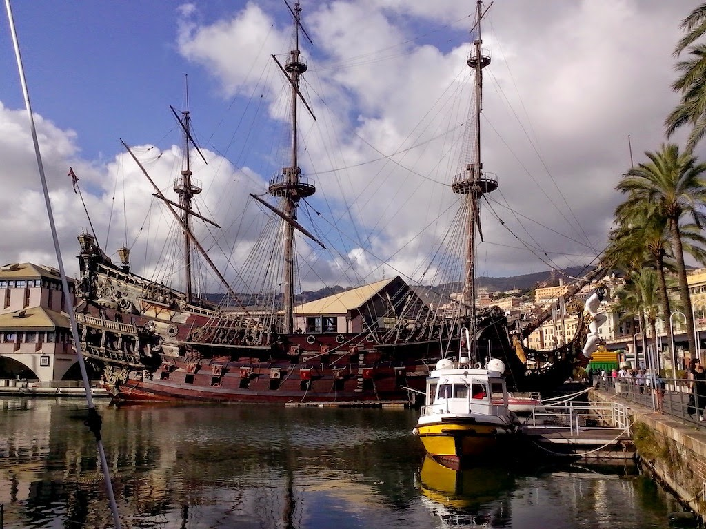Genova, replica of Columbus ship Hajdi-Hajducica